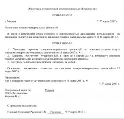 Образец приказа о создании комиссии (скачать)