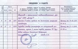 Подпись работника в трудовой книжке при увольнении образец