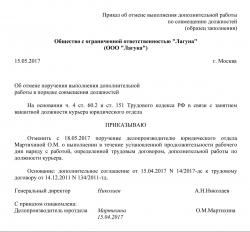 Внешнее совместительство ТК РФ: образец договора |
