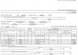 Платежная ведомость т-51 бланк на одном листе