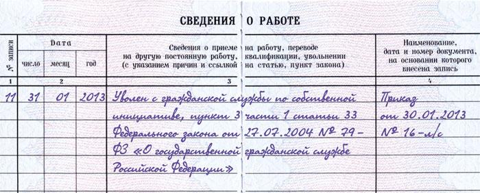 уведомление о заключении трудового договора с бывшим госслужащим образец - фото 9