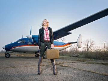 Когда на небе ни облачка, отправляться на самолете в загранкомандировку гораздо приятнее