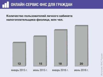 К личному кабинету физлица ежемесячно подключаются более 300 тыс. граждан