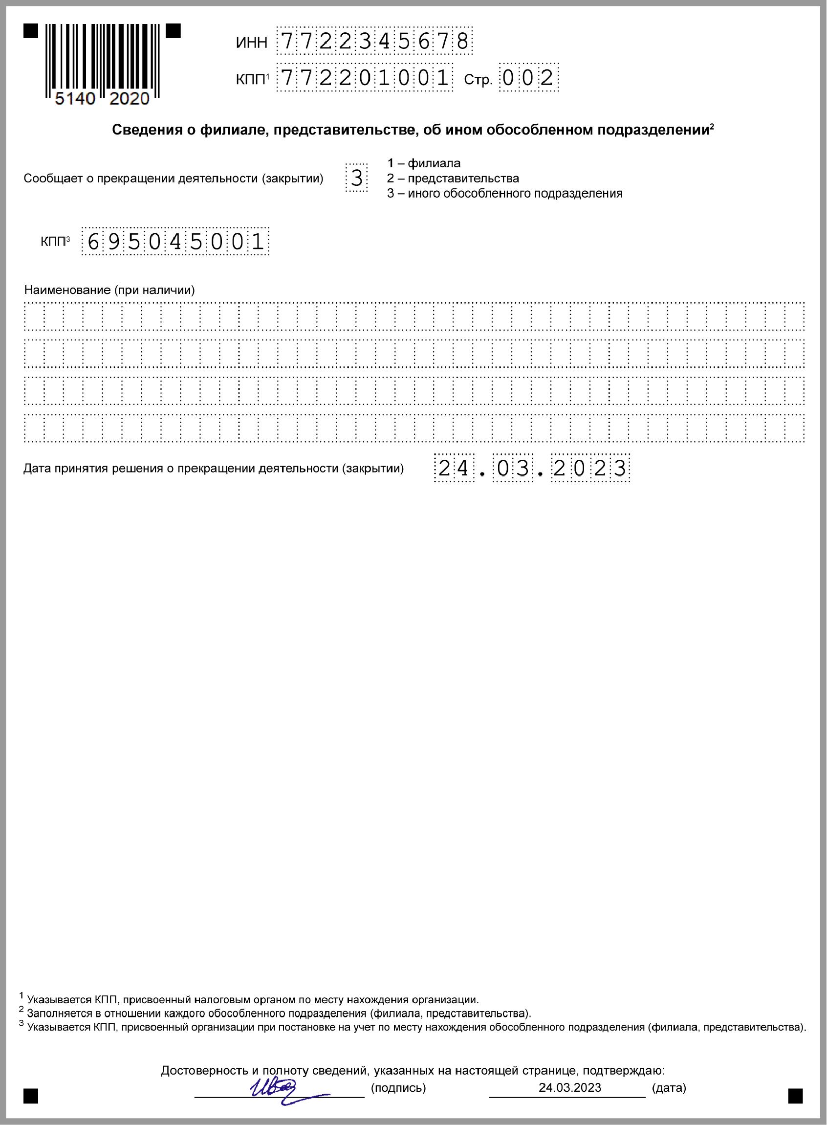 Налоги после закрытия обособленного подразделения